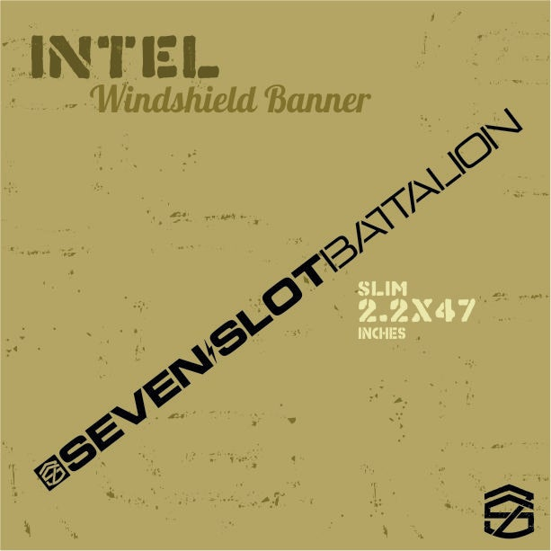 Image of Intel Windshield Banner