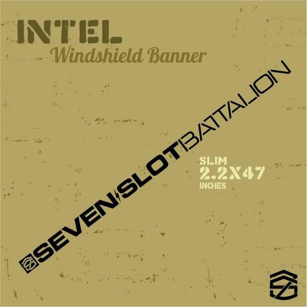 Image of Intel Windshield Banner