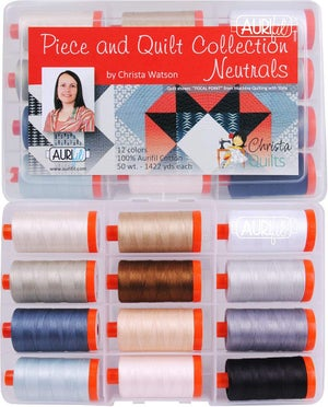 Christa Watson Aurifil Thread Kit: Neutrals, Colors, or Variegated