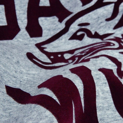 Image of GAME-WORN Super Heavyweight Pullover Hooded Sweatshirt - Heritage Grey/Burgundy