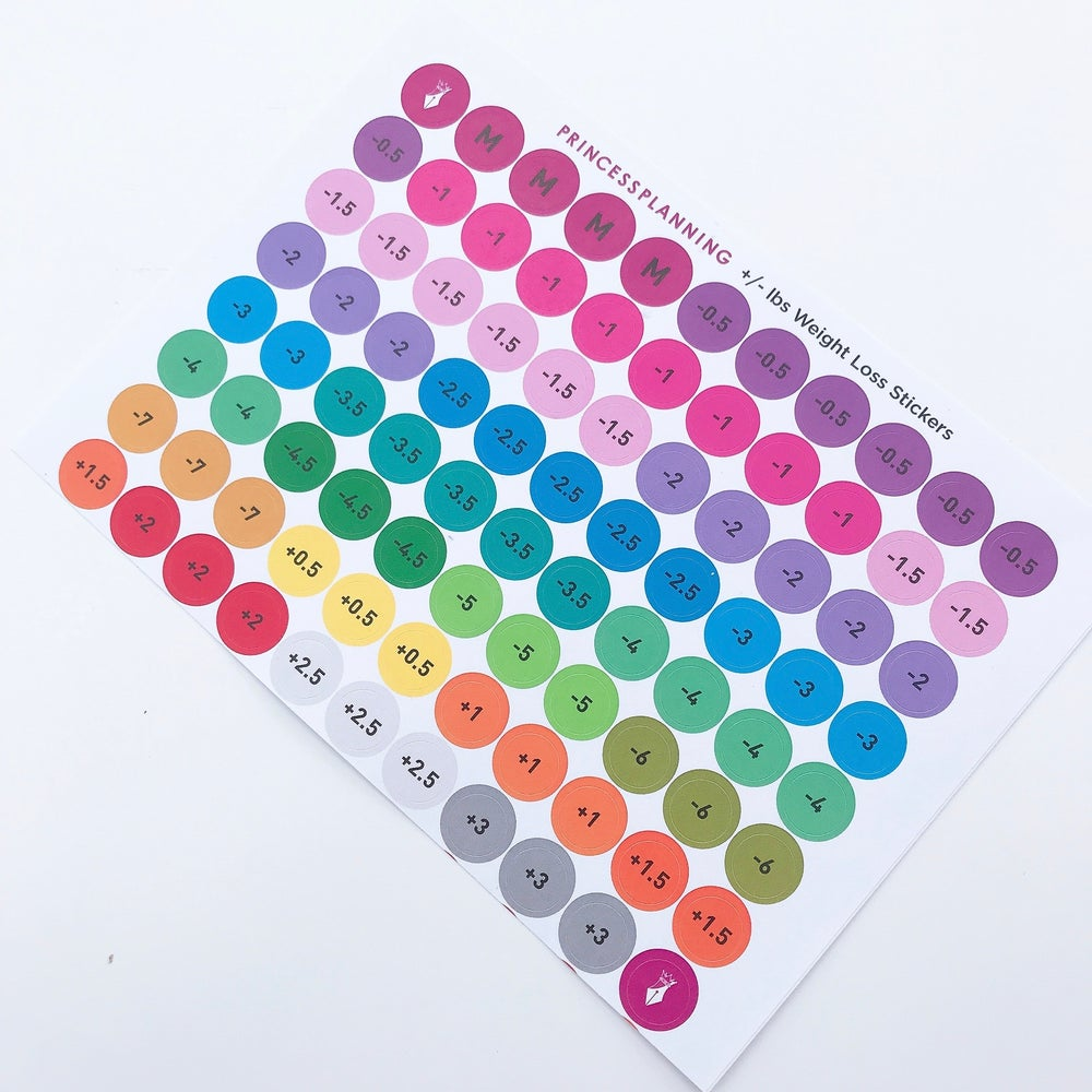 Image of WEIGHTLOSS RESULT STICKERS