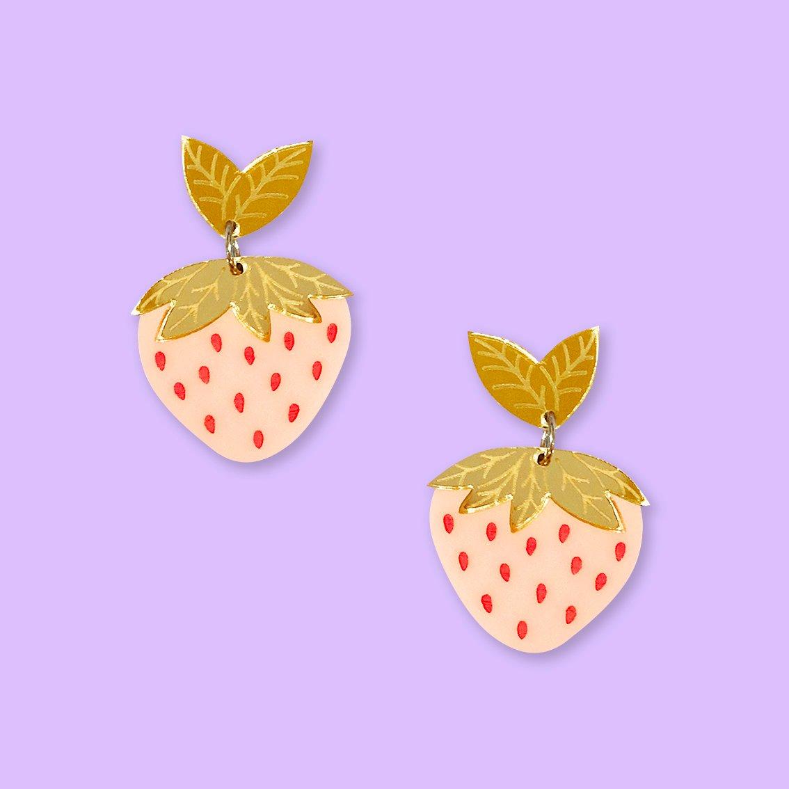 Image of Strawberry Midi Dangles