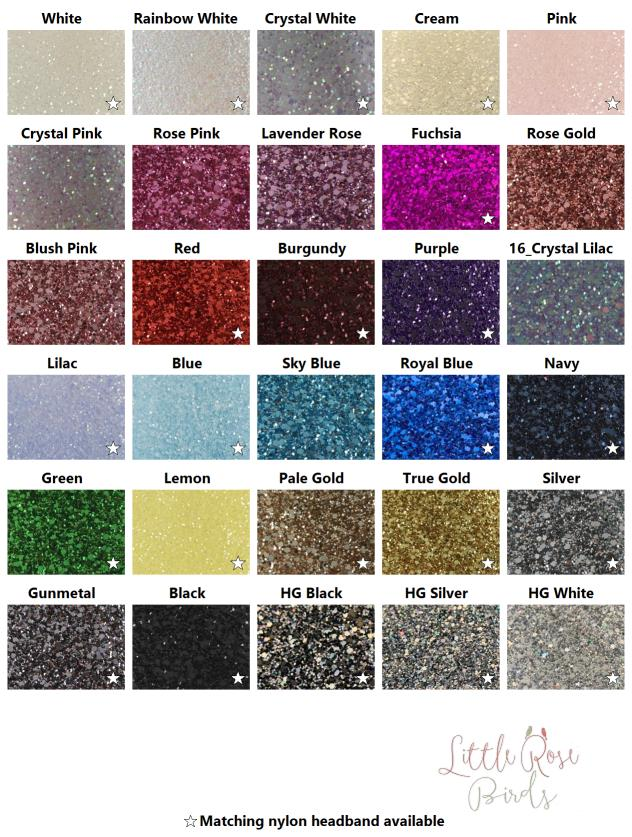 Image of CHOOSE YOUR COLOUR - Glitter Star Bow - Choice of 30 Colours