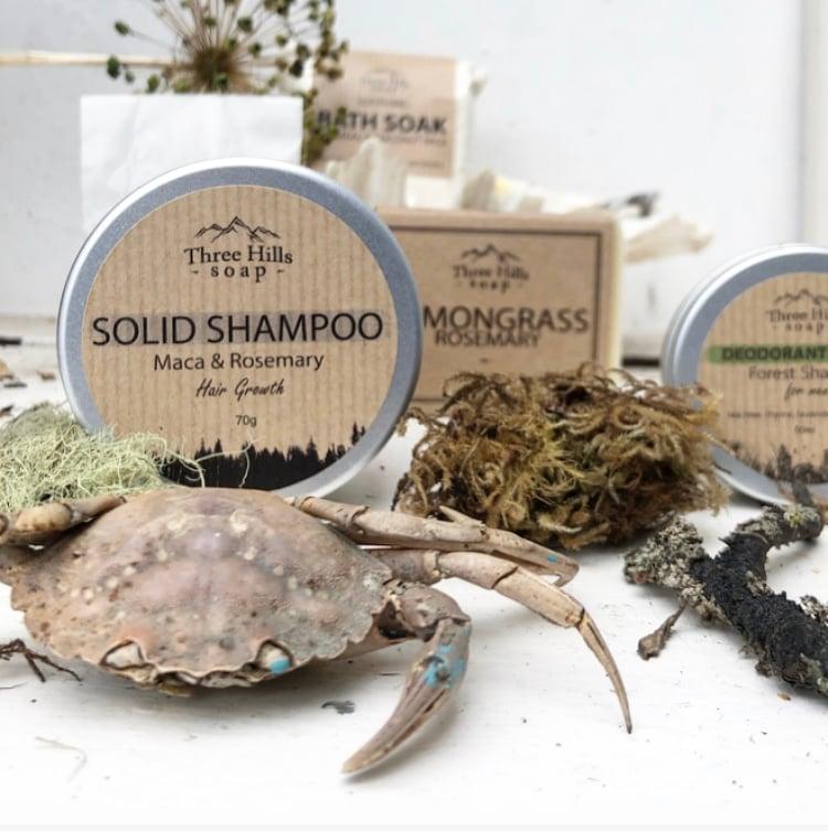 Solid shampoo bar by Threehills