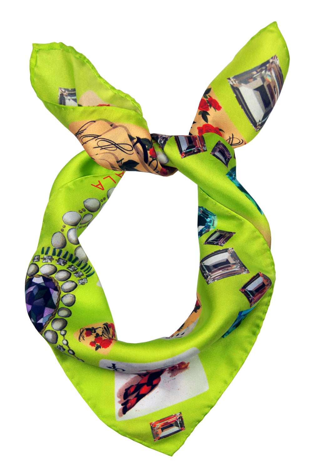 Image of Plaisir D'Amour / Lime Yellow Silk Scarf