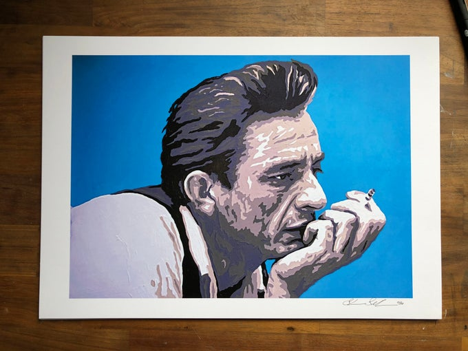 Image of Johnny Cash A3 Limited Edition Print
