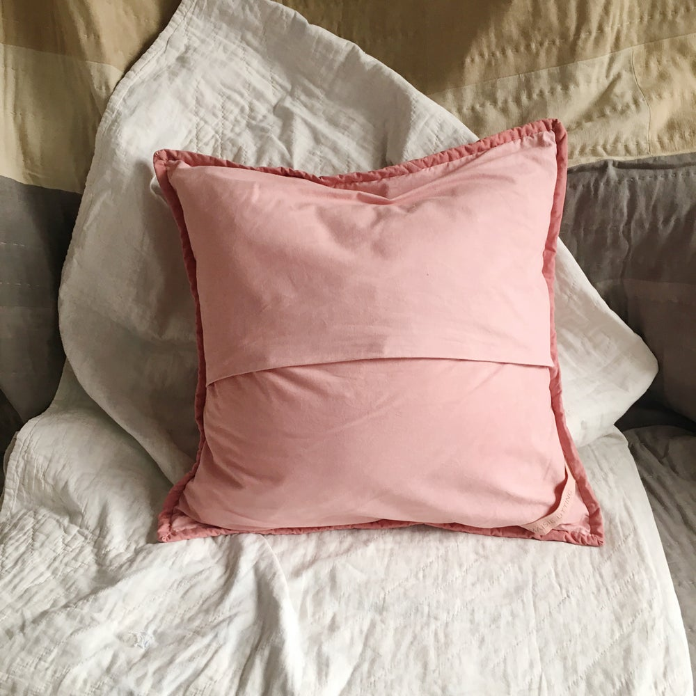 Image of Madder Duo quilted cushion