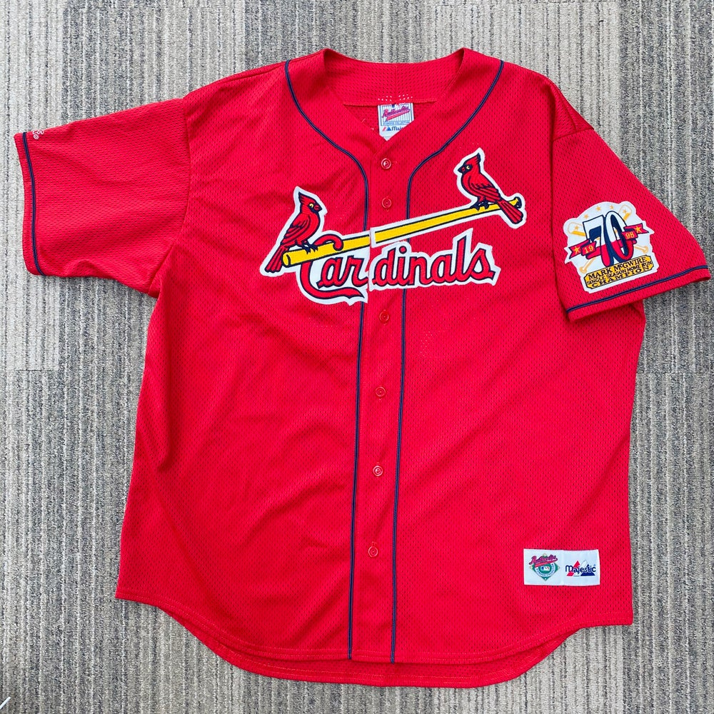 Image of Vintage Mark McGwire St Louis Cardinals Majestic Jersey