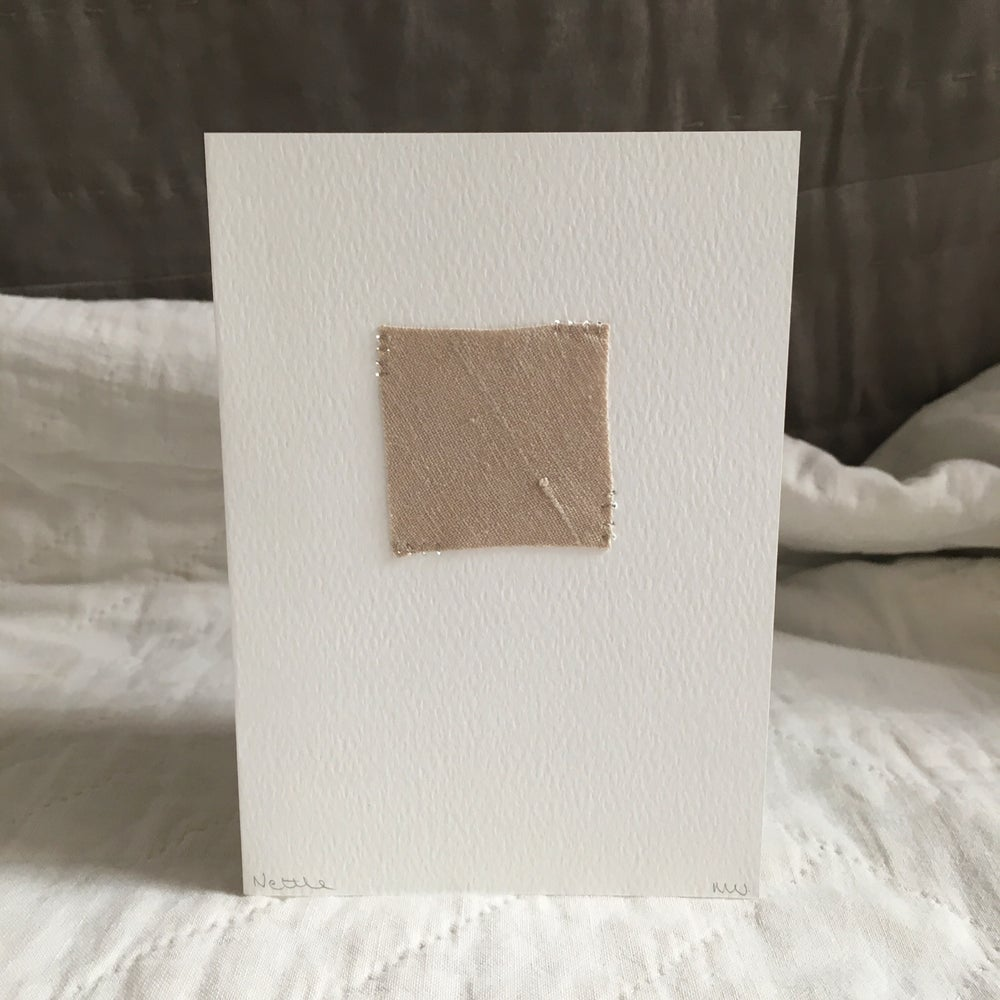 Image of Stitched greetings card - Nettle