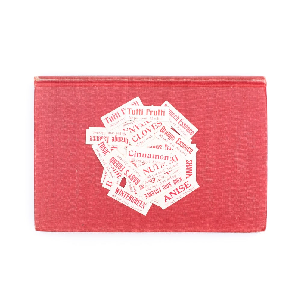 Image of Teeny Red Medicine Labels - Set of 25