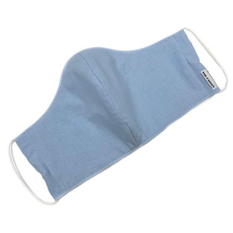 Image of Fabric Face Mask (Light Blue Cotton)