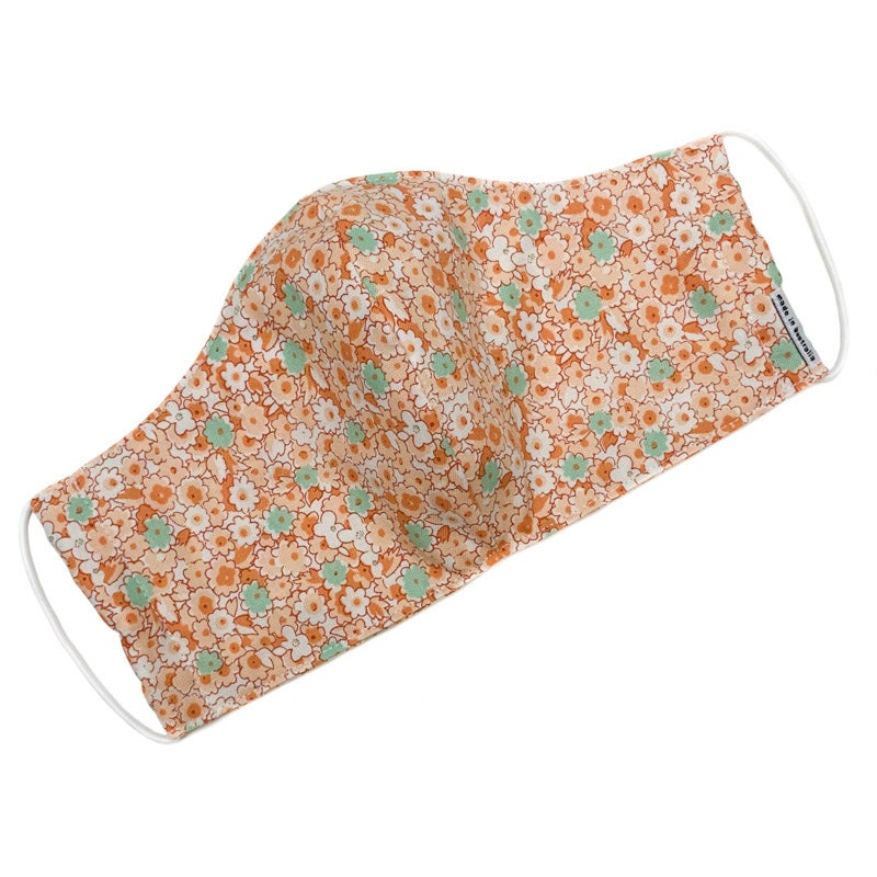 Image of Fabric Face Mask (Orange Blossom)