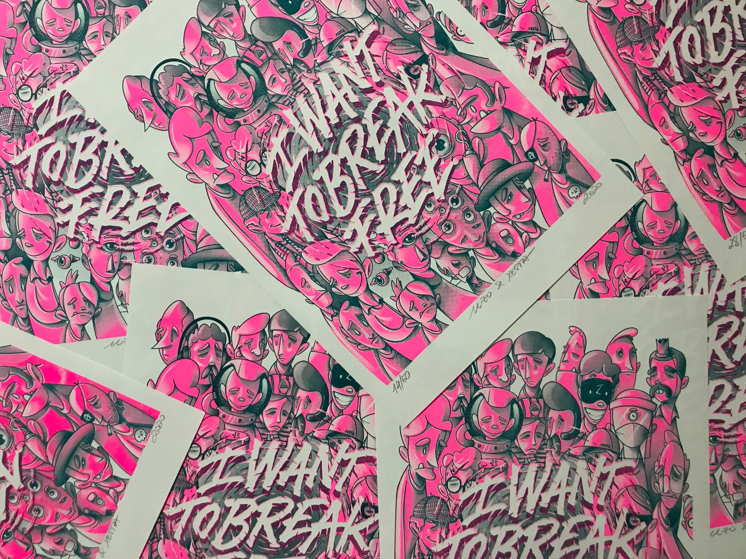 Image of I Want to Break Free - Risograph
