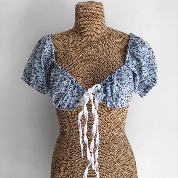 Milkmaid Style Crop Top