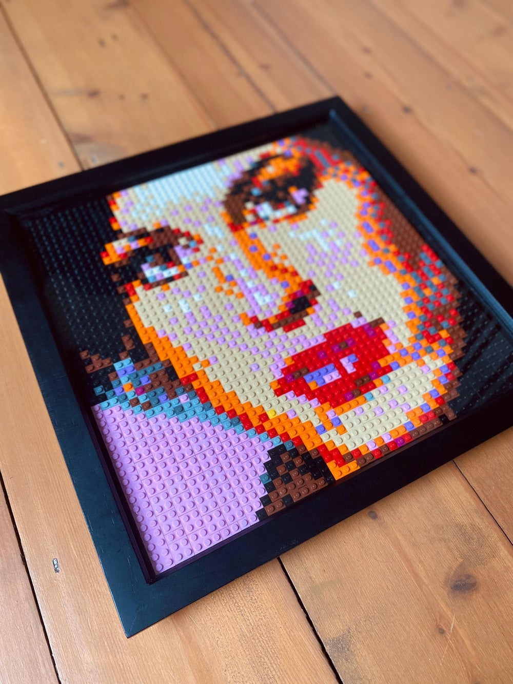 'Amy in Brick' Lego Art by Grifshead