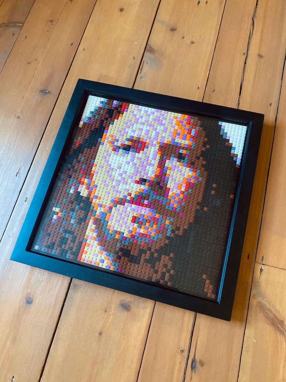 'Eddie in Brick' Lego Art by Grifshead