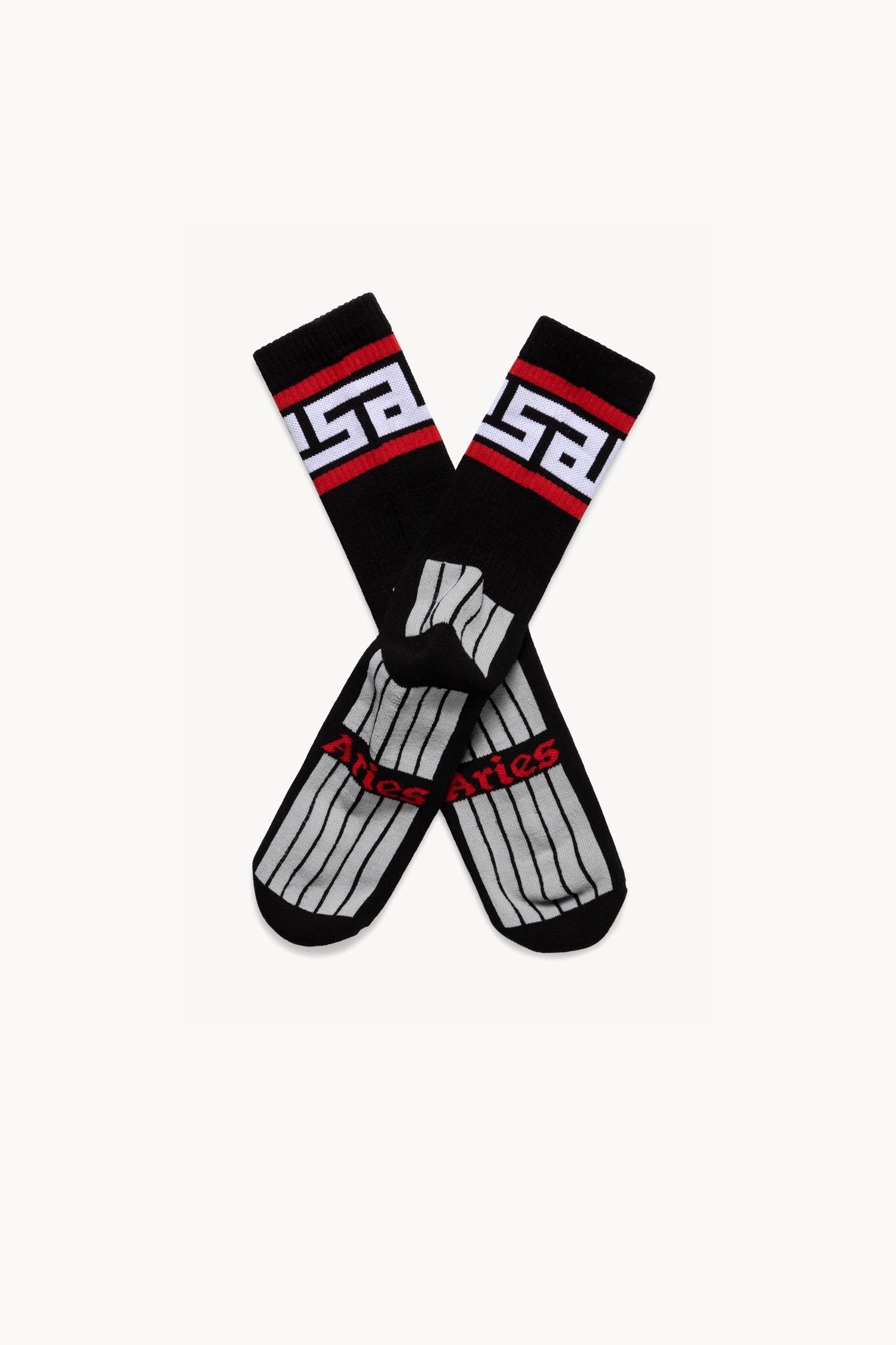 Image of ARIES ARISE Meandros Socks black