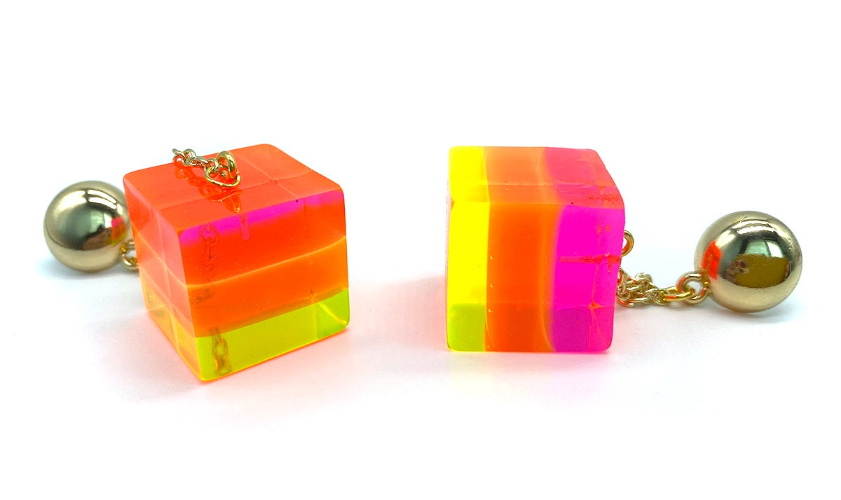 Image of Trio Mod Cube earrings