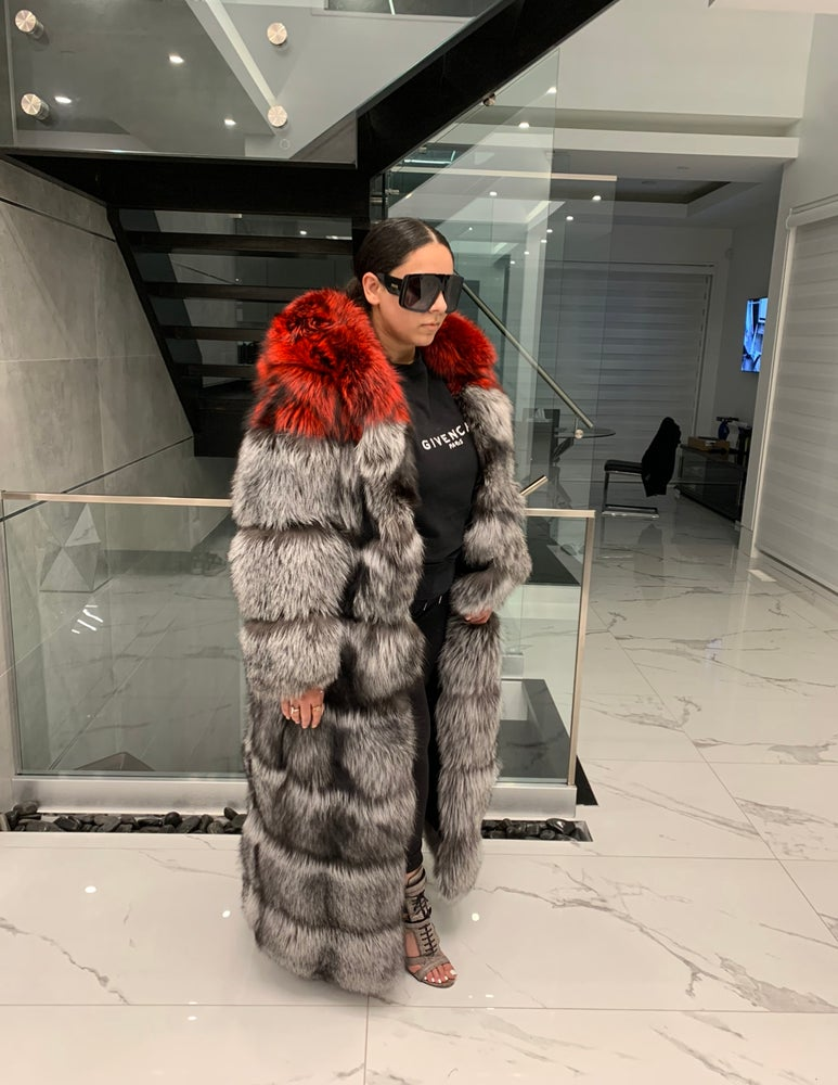 Image of Aaliyah 2in1 Silver Fox Fur Coat