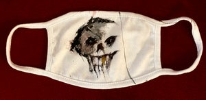 Image of Handpainted WHITE Mask
