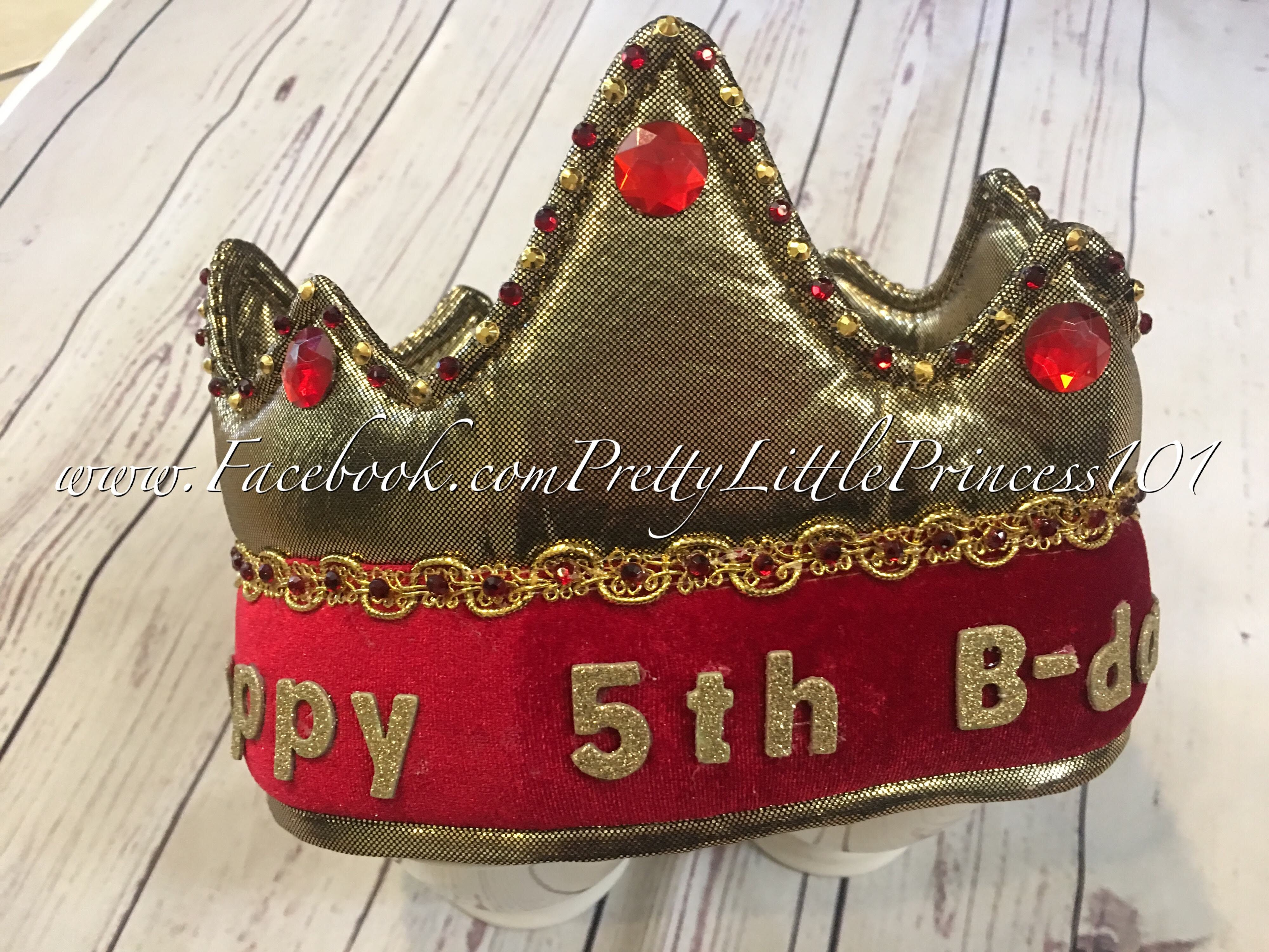 Personalized King Crown Knight crownPrince crown Felt crown