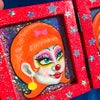 Twin Clowns Framed Painting
