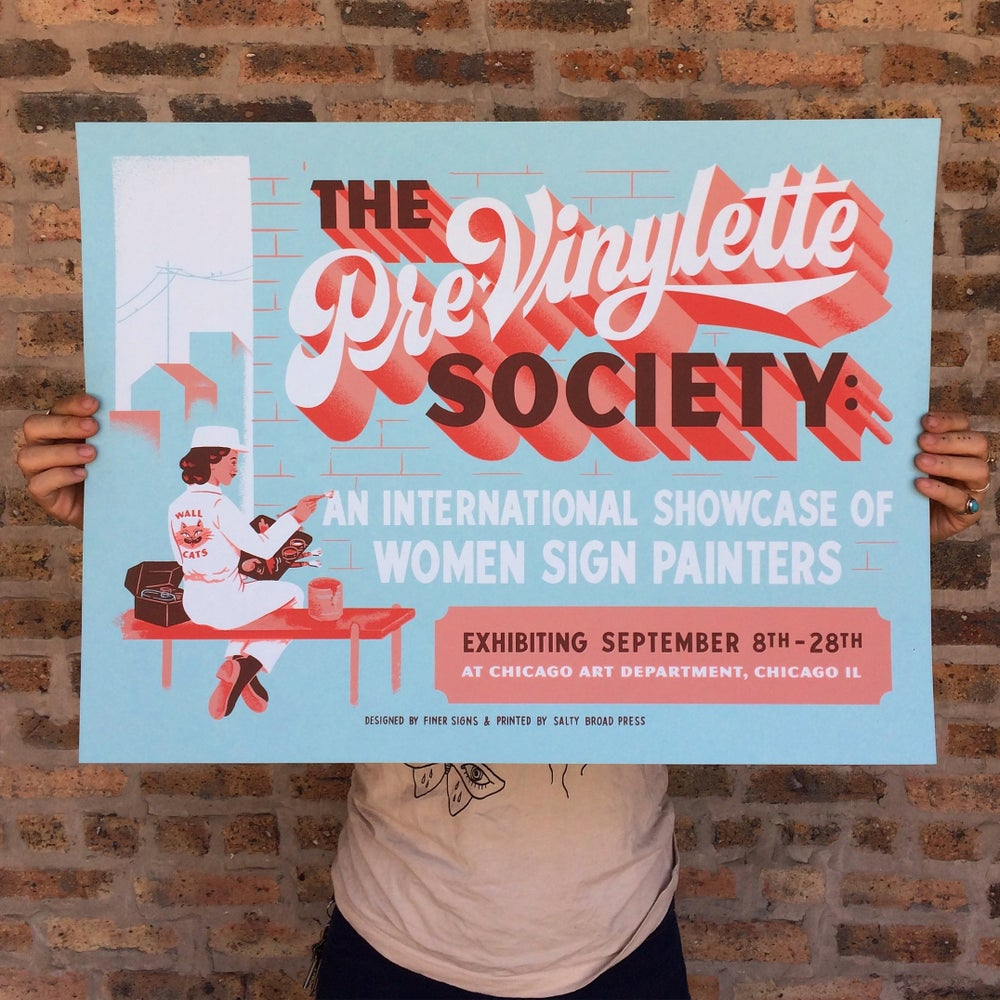 Image of The Pre-Vinylette Society Poster