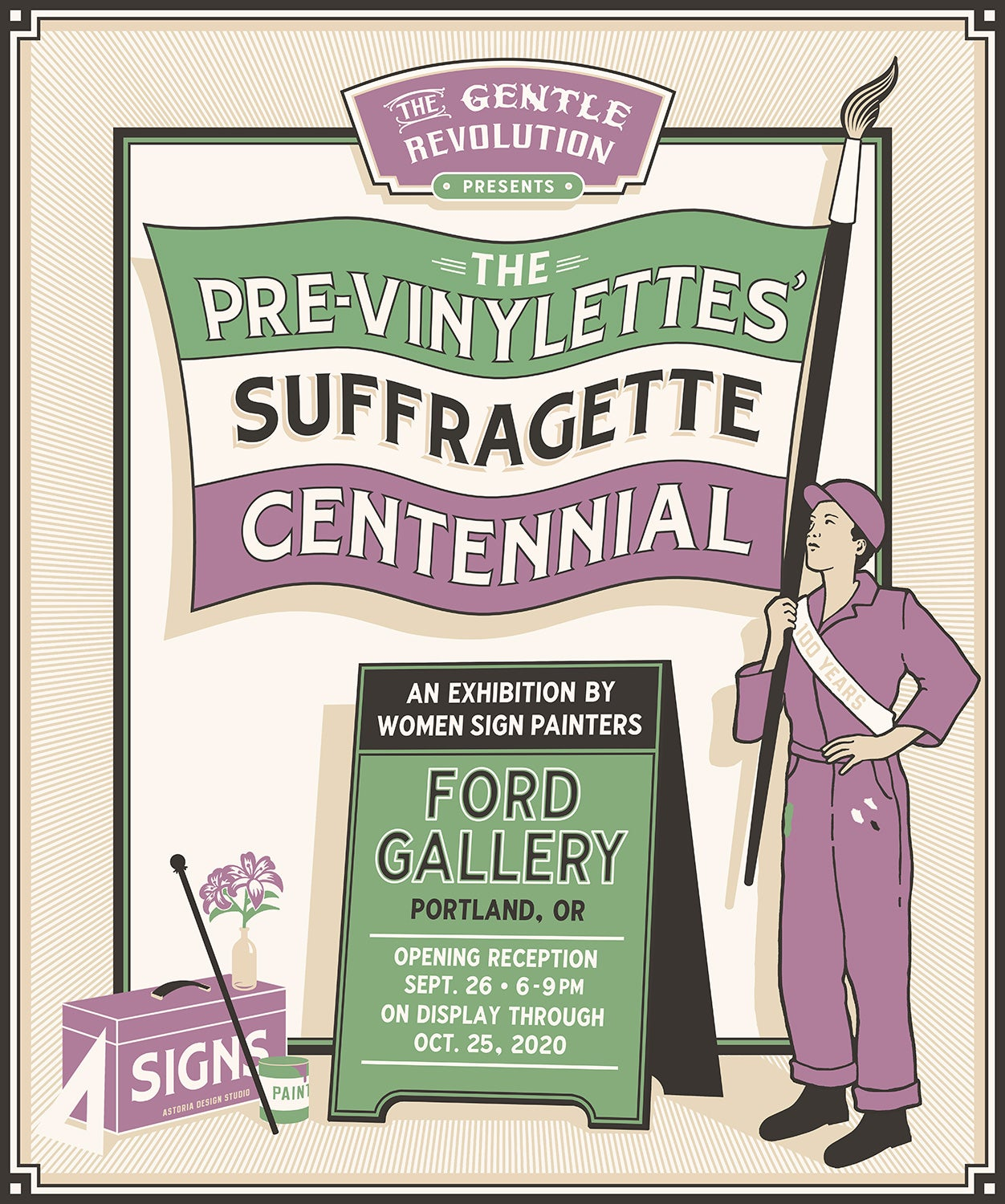 Image of The Pre-Vinylettes Suffragette Centennial Poster