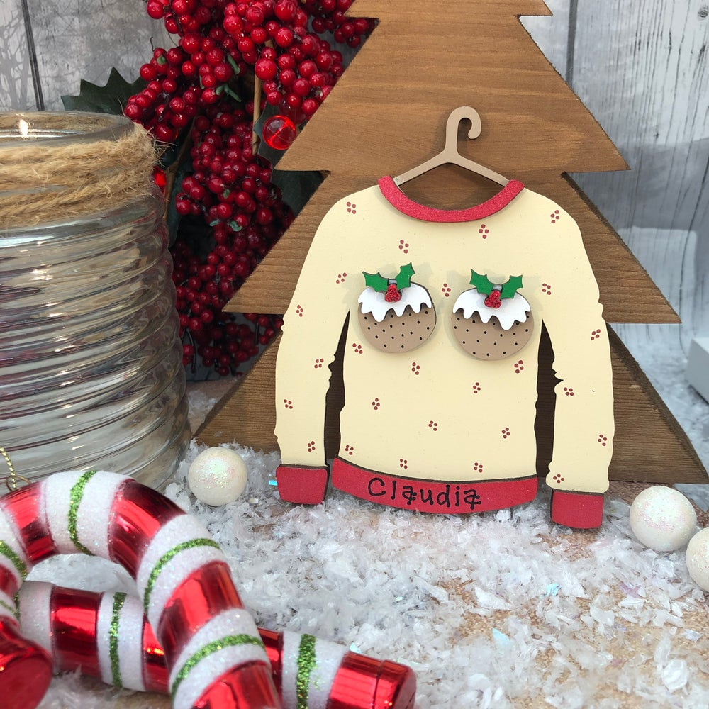 Image of Christmas Puddings Jumper