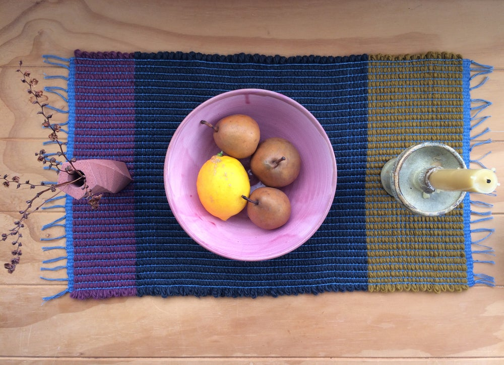 Image of Table Runner • Bordeaux / Indigo /Ochre