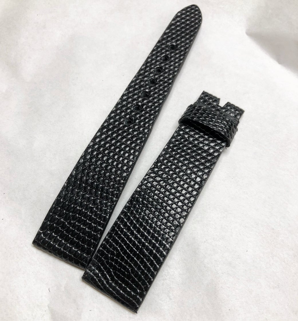 Image of  Black Lizard extra flat watch strap - clean cut