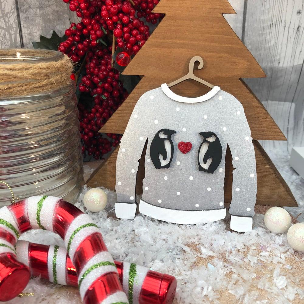 Image of Penguins Christmas Jumper