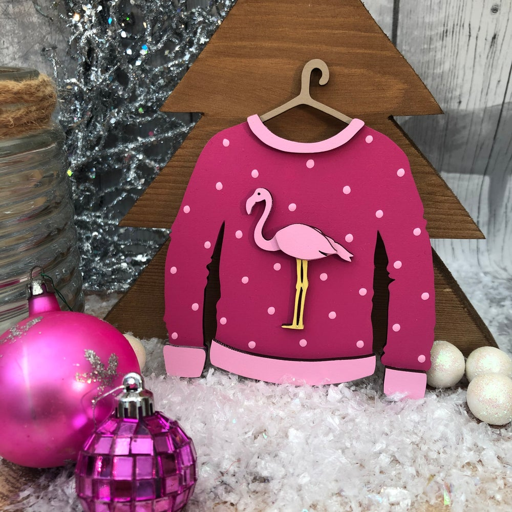 Image of Flamingo Christmas Jumper