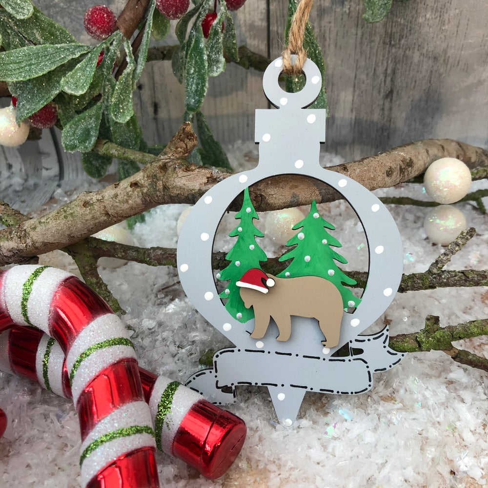 Image of Bear Bauble with banner