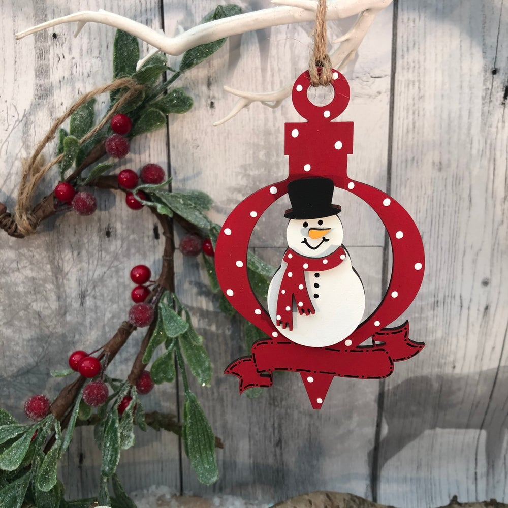 Image of Snowman Bauble with banner