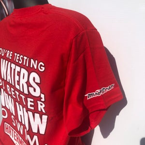 "Image of ""Testing My Waters"" by Hatermade Clothing Co. (Red)"