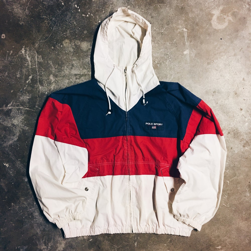 Image of Original 90's Polo Sport USA Hooded Jacket.