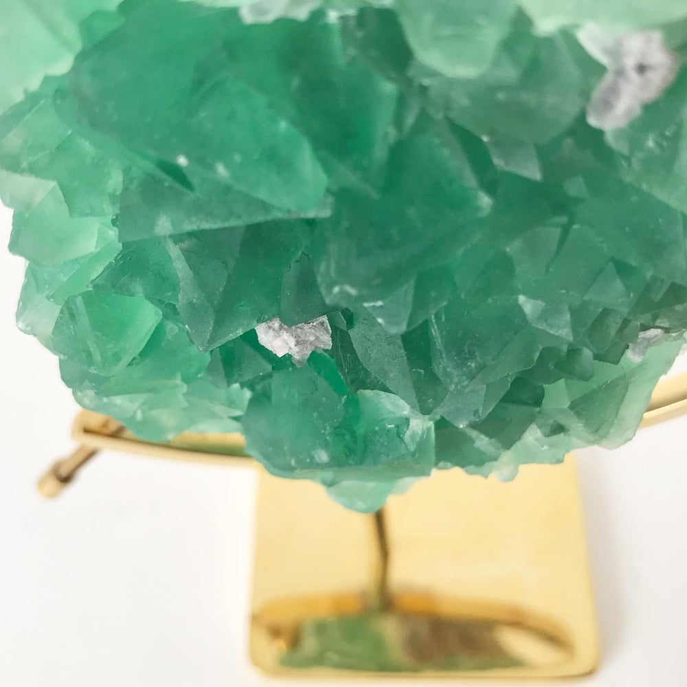 Image of Fluorite no.55 + Brass Arc Stand