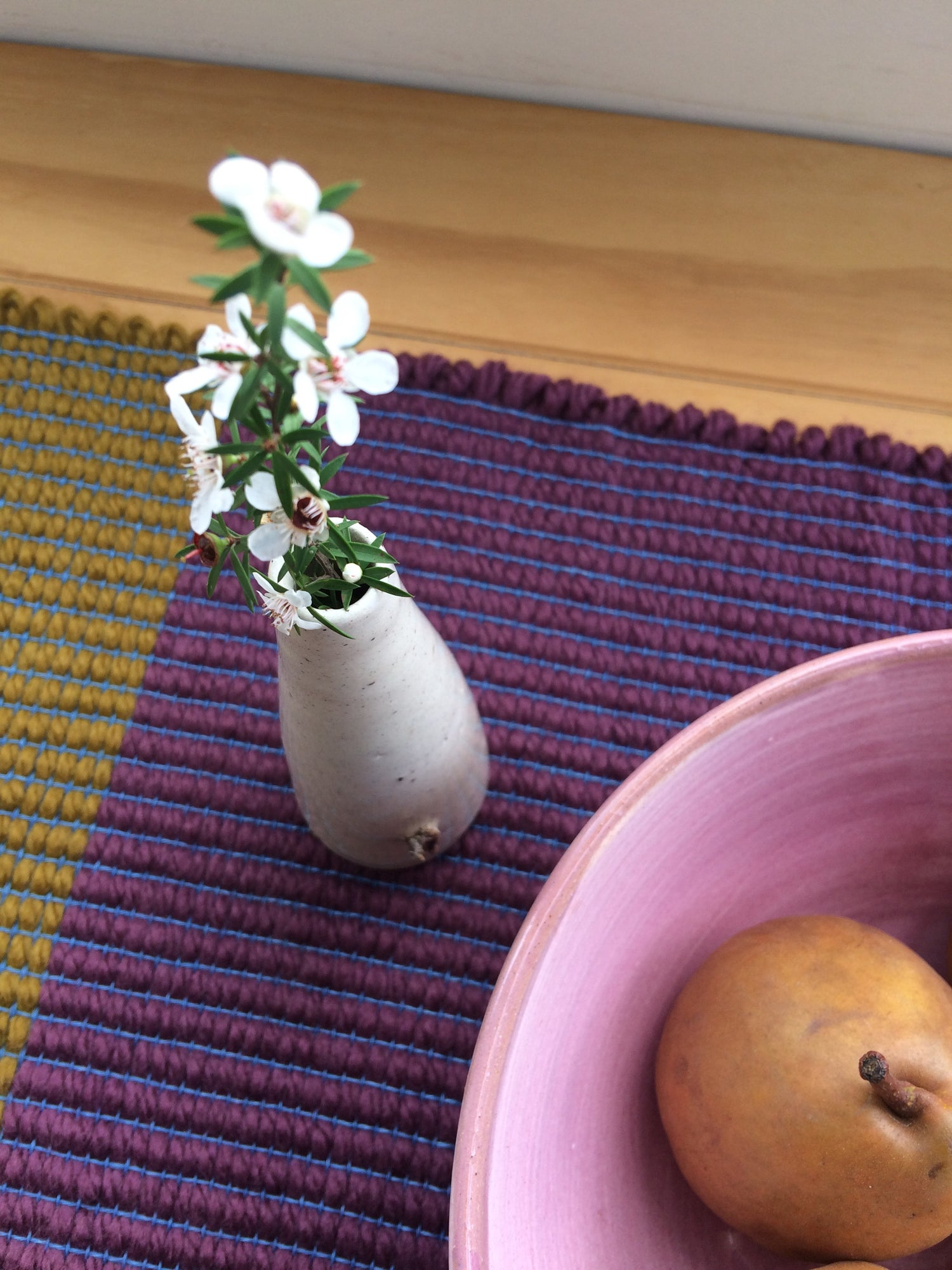 Image of Table Runner • Ochre /Bordeaux /Turquoise