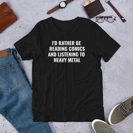 Image of I'D RATHER BE UNISEX TSHIRT
