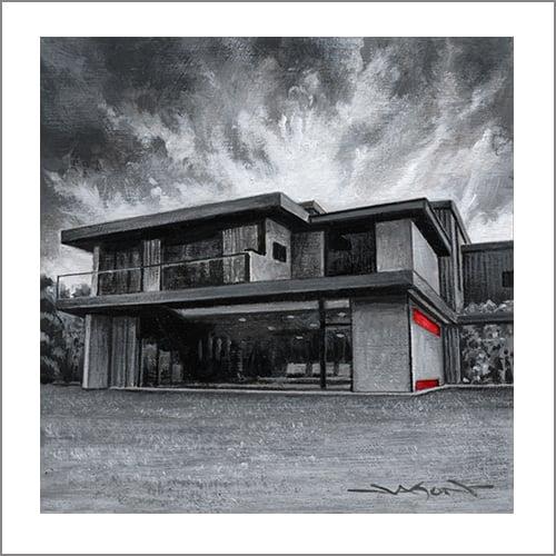 """""""Park House"""" - 5"""" x 5"""" giclee"""