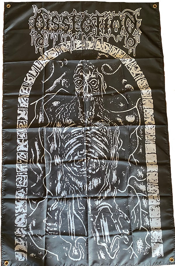 """Image of Dissection """" The Grief Prophecy """"  Flag /  Banner / Tapestry"""