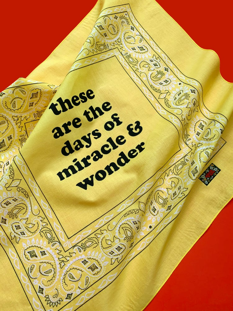 Image of Miracle and Wonder  Bandana
