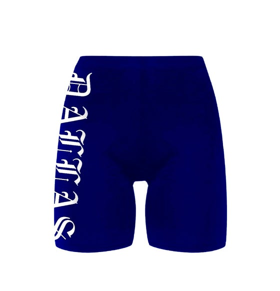 Image of DALLAS NAVY BIKE SHORTS