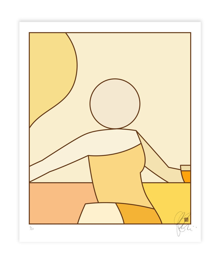 Image of LATE SHIFT - Yellow Palette : Artwork print