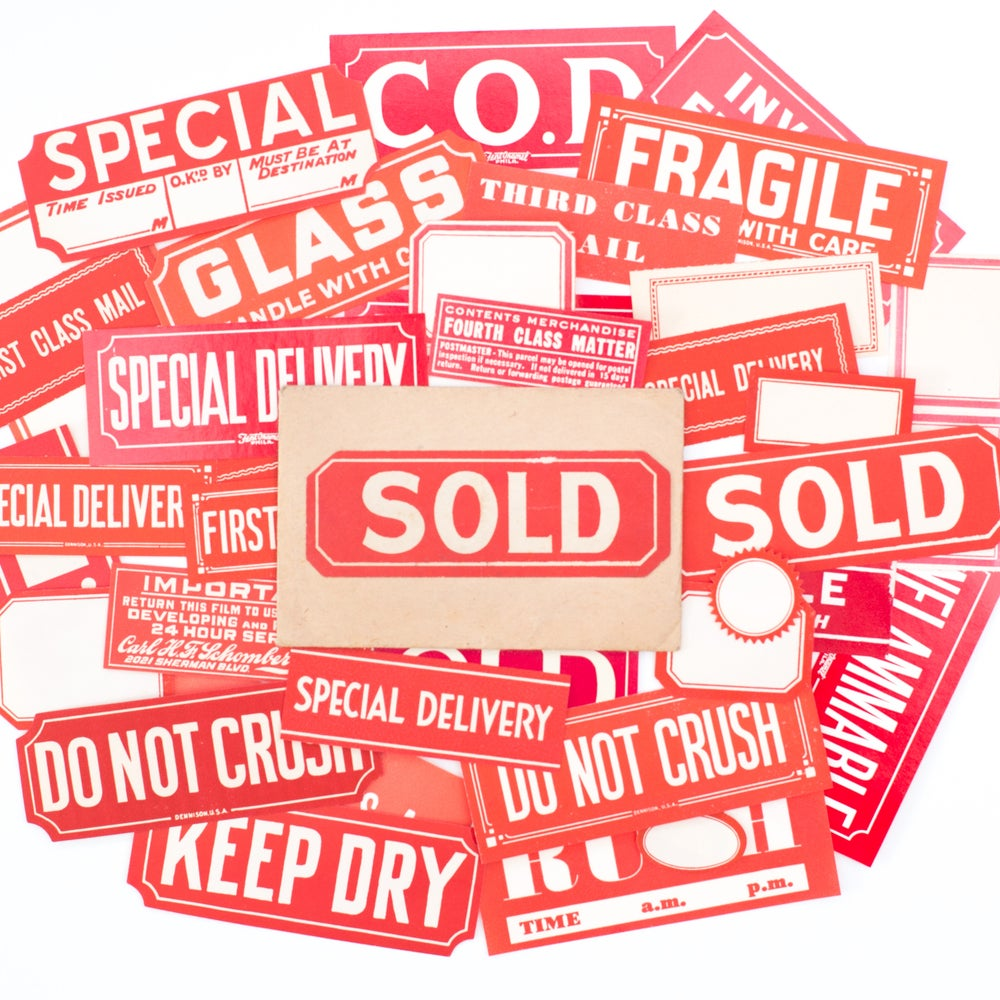 Image of Instant Collection of Red Labels