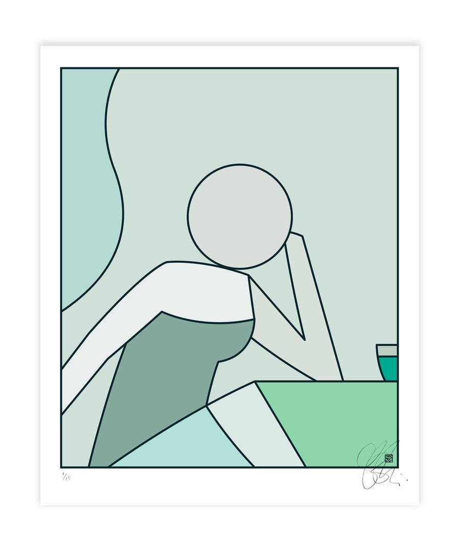 Image of LATE SHIFT - Green Palette : Artwork print