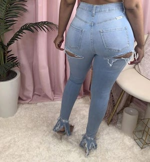 """Image of """"Rip It"""" High Waist Jeans"""