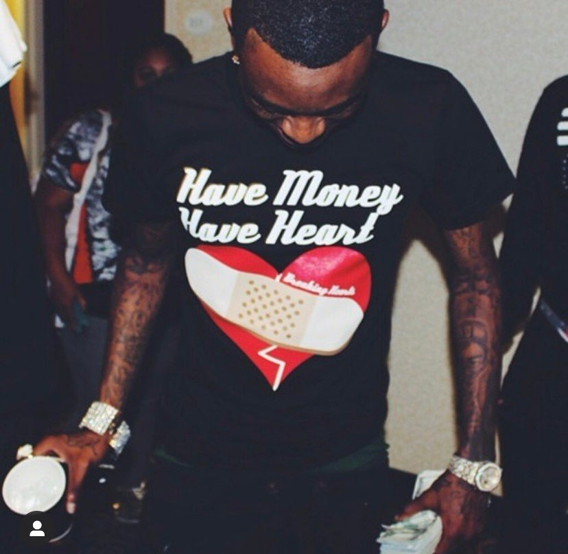 Image of Classic 'Have Money Have Heart' Black Tee
