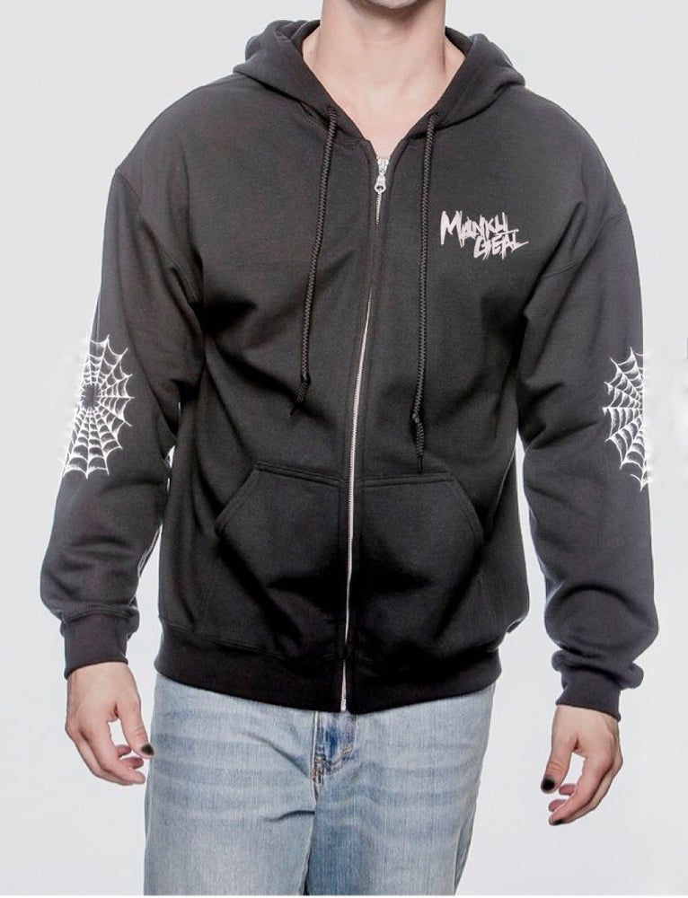Image of Spooky Glam GLITTER Zip Up Unisex Hoodie